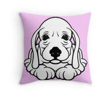 Big Ear Puppy  Throw Pillow