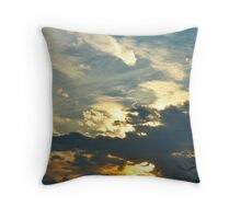 Sunset Over New York Throw Pillow