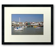 Bridlington Harbour Scene 02 Framed Print