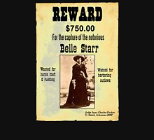 Belle Starr Wanted Poster Unisex T-Shirt