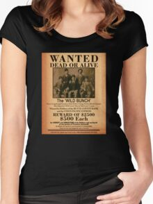 The Wild Bunch Wanted Poster Women's Fitted Scoop T-Shirt