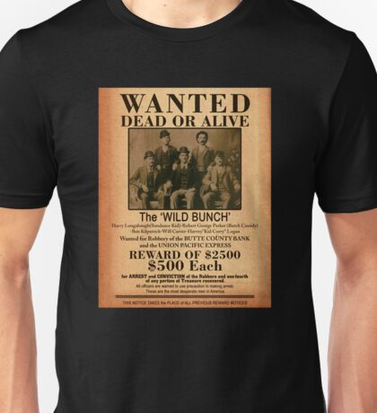 The Wild Bunch Wanted Poster Unisex T-Shirt