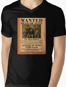 The Wild Bunch Wanted Poster Mens V-Neck T-Shirt
