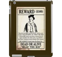 Billy the Kid Wanted Poster iPad Case/Skin