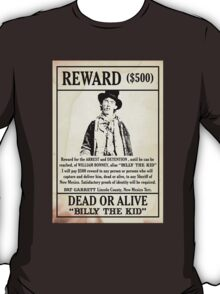 Billy the Kid Wanted Poster T-Shirt