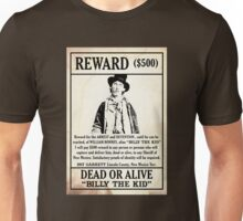 Billy the Kid Wanted Poster Unisex T-Shirt