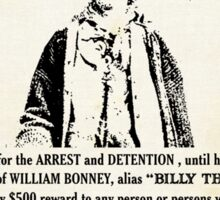 Billy the Kid Wanted Poster Sticker