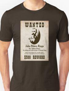 Johnny Ringo Wanted Poster Unisex T-Shirt