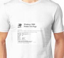 Printer Test Page Unisex T-Shirt