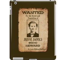 Jesse James Wanted Poster iPad Case/Skin