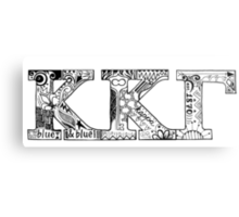 Kappa Kappa Gamma Letters Metal Print