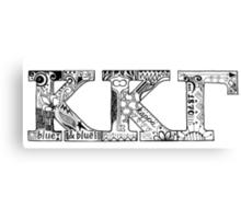 Kappa Kappa Gamma Letters Canvas Print