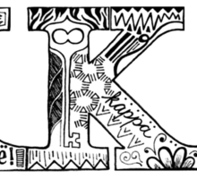 Kappa Kappa Gamma Letters Sticker