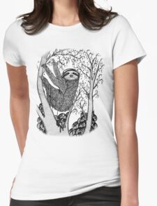 PEACE-TOED SLOTH Womens Fitted T-Shirt