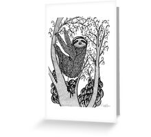 PEACE-TOED SLOTH Greeting Card