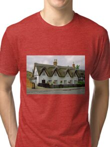Thatched Cottages In Repton Tri-blend T-Shirt