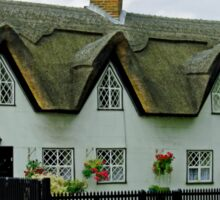 Thatched Cottages In Repton Sticker