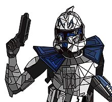 Captain Rex Geometric by wonderwaffle