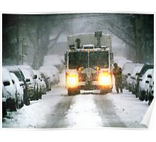 Snowy morning in Bronx, New York City Poster