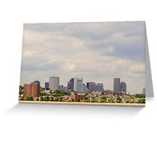 Boston at a Distance Greeting Card