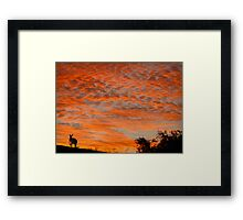 I know you're there ! Framed Print