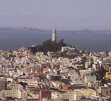 Coit Tower and surroundings by clou