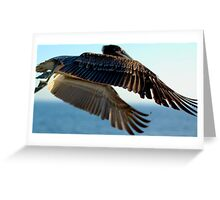 Flying Away Greeting Card