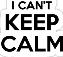 I cant keep calm Im a CAMPAGNOLO Sticker