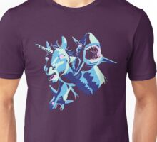 UNICORN WITH SHARKS FOR HANDS! Unisex T-Shirt