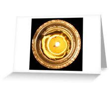 By the Light of Flame Greeting Card