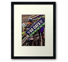 Go Cats! - J at the G Framed Print