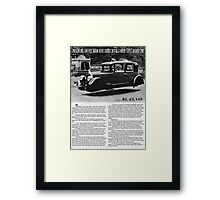 Old Fashioned Hover Cars in 1927 Pakistan Framed Print