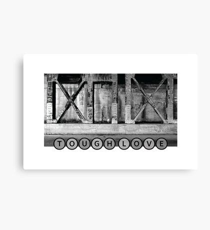 TOUGH LOVE - IRON WALL Canvas Print