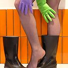 wellies and wubber gloves three by Soxy Fleming