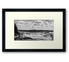 Winter is here Down East Maine B&W Framed Print