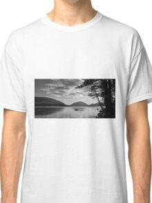 Dramatic Black and White Landscape Acadia National Park  Classic T-Shirt