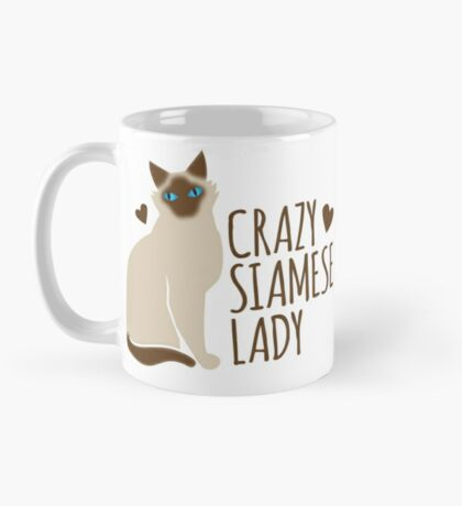 Crazy SIAMESE cat Lady Mug