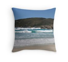 Lowlands Beach and Southern Ocean Throw Pillow