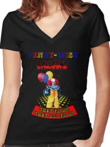 Penny-Wise Balloons Women's Fitted V-Neck T-Shirt