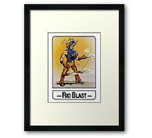 He-Man - Rio Blast - Trading Card Design Framed Print