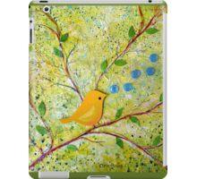 Cheerful Chirpy Songbird on a Beautiful Morning iPad Case/Skin