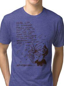 'Adam's Breakfast Chino' Tri-blend T-Shirt