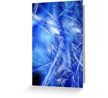 blue background Greeting Card