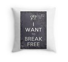 Queen Wants to Break Free Throw Pillow