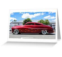 Flaming '49 Mercury Greeting Card