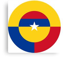 Roundel of the Colombian Air Force Canvas Print