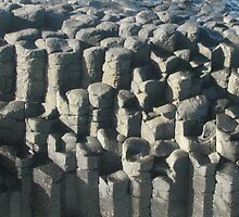 Basalt columns at Fingal Head, NSW Australia by geoaware