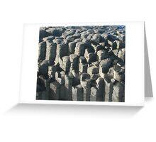 Basalt columns at Fingal Head, NSW Australia Greeting Card