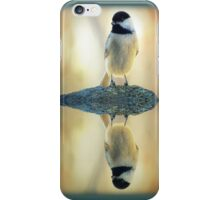 Reflecting Pool Chickadee iPhone Case/Skin