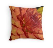 Russet Chrysanthemum Throw Pillow